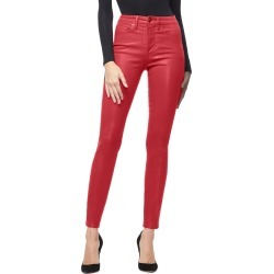 Women's Good American Good Waist Coated High Waist Skinny Jeans