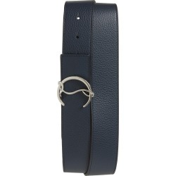 Men's Christian Louboutin Cl Buckle Leather Belt, Size 105 EU - Navy/black/silver found on Bargain Bro India from Nordstrom for $420.00