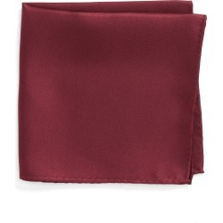 Men's Nordstrom Men's Shop King Twill Silk Pocket Square, Size One Size - Burgundy found on Bargain Bro India from Nordstrom for $25.00
