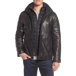 Men's Marc New York Hartz Leather Jacket With Quilted Bib found on MODAPINS from Nordstrom for USD $198.00