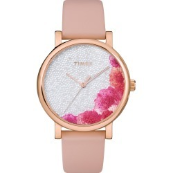 Women's Timex Full Bloom Crystal Floral Leather Strap Watch, 38mm found on Bargain Bro India from LinkShare USA for $99.00