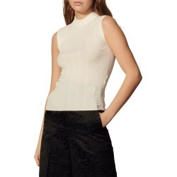 Women's Sandro Sleeveless Crewneck Sweater, Size 0 - White found on Bargain Bro from Nordstrom for USD $133.00