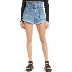 Women's Blanknyc Belted Paperbag Waist Cutoff Denim Shorts, Size 29 - Blue found on Bargain Bro from Nordstrom for USD $66.88