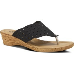 Women's Spring Step Tiffany Wedge Flip Flop, Size 8.5US - Black found on Bargain Bro India from Nordstrom for $60.00