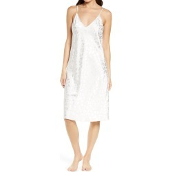 Women's Natori Decadence Print Satin Nightgown, Size Medium - Ivory found on MODAPINS from Nordstrom for USD $120.00