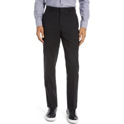 Men's Nordstrom Men's Shop Tech-Smart Slim Fit Stretch Wool Dress Pants, Size 36 x Unhemmed - Black found on MODAPINS from Nordstrom for USD $129.00