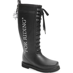 Women's Off-White Quote Rain Boot, Size 5US - Black found on MODAPINS from Nordstrom for USD $405.00