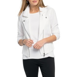Women's Nic+Zoe Linen Blend Biker Jacket found on Bargain Bro India from LinkShare USA for $130.85