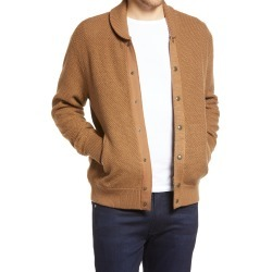 Men's Rag & Bone Cardiff Bomber Cardigan, Size Large - Brown found on MODAPINS from Nordstrom for USD $210.00