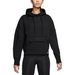 Women's Nike Jordan Fleece Crop Hoodie, Size Small - Black