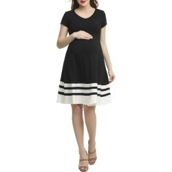 Women's Kimi And Kai Theresa Colorblock Maternity Skater Dress found on Bargain Bro India from Nordstrom for $54.60
