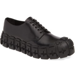 Men's Prada Lug Sole Derby, Size 8US - Black found on MODAPINS from Nordstrom for USD $820.00
