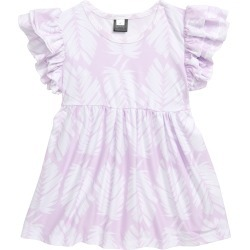 Toddler Girl's Sweet Sweet Honey Hawaii Palm Print Ruffle Sleeve Tunic, Size 3T - Purple found on Bargain Bro Philippines from Nordstrom for $34.00