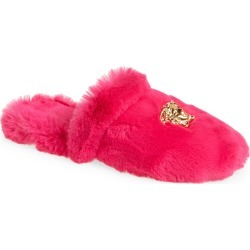 Versace Logomania Faux Fur Slipper, Size 47 - Pink found on MODAPINS from Nordstrom for USD $425.00