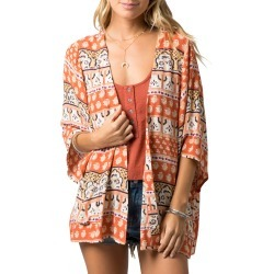 Women's Rip Curl North Coast Print Wrap, Size X-Small - Coral found on Bargain Bro Philippines from Nordstrom for $54.95