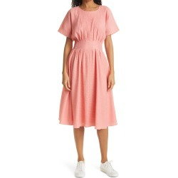 Petite Women's Club Monaco Seersucker Fit & Flare Dress, Size 00P - Pink found on Bargain Bro Philippines from Nordstrom for $259.00