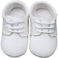 Infant Boy's Little Things Mean A Lot Leather Crib Shoe, Size 1 - White found on Bargain Bro Philippines from Nordstrom for $40.00