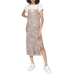Women's Spiritual Gangster Leopard Slipdress, Size X-Large - White found on Bargain Bro Philippines from Nordstrom for $108.00