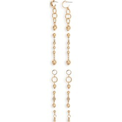 Women's Ettika Set Of 5 Drop Earrings