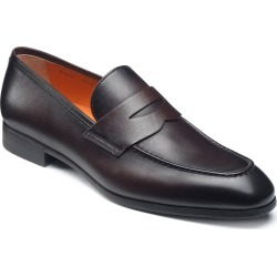 Men's Santoni Gavin Penny Loafer, Size 9 D - Brown found on Bargain Bro India from LinkShare USA for $495.00