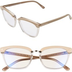 Women's Tom Ford 54mm Blue Light Blocking Glasses - Shiny Transp Pink/ Rose Gold found on Bargain Bro Philippines from Nordstrom for $415.00