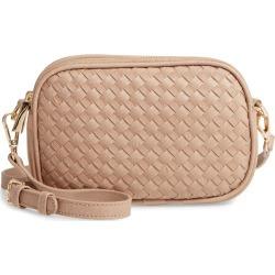 Mali + Lili Ava Woven Vegan Leather Crossbody Bag - Beige found on Bargain Bro India from LinkShare USA for $58.00