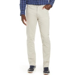 Men's Big & Tall Cutter & Buck Voyager Stretch Cotton Five-Pocket Pants, Size 38 x 36 - Grey found on Bargain Bro from Nordstrom for USD $79.80