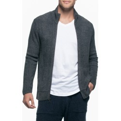 Men's Barefoot Dreams Lite Zip Cardigan, Size Large - Grey found on MODAPINS from Nordstrom for USD $142.00