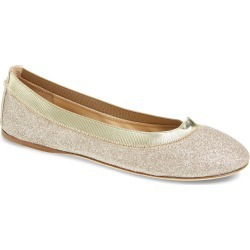 Women's Jimmy Choo Gwenda Glitter Flat, Size 6US - Metallic (Nordstrom Exclusive) found on Bargain Bro India from LinkShare USA for $297.00