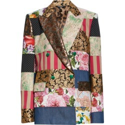 Women's Dolce & gabbana Patchwork Double Breasted Jacket, Size 4 US - Blue found on Bargain Bro from Nordstrom for USD $3,796.20