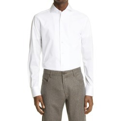 Men's Canali Trim Fit Cotton Jersey Shirt, Size Large - White found on Bargain Bro from Nordstrom for USD $247.00