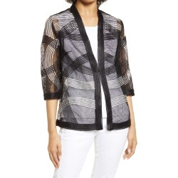 Women's Ming Wang Open Weave Jacket, Size X-Large - Black found on Bargain Bro from Nordstrom for USD $186.20