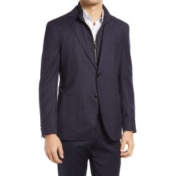 Men's Ted Baker London Tucker Check Stretch Wool Sport Coat, Size 42 Short - Blue found on MODAPINS from Nordstrom for USD $399.00