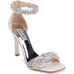Women's Badgley Mischka Fiorenza Crystal & Imitation Pearl Embellished Sandal, Size 9.5 M - White found on MODAPINS from Nordstrom for USD $275.00