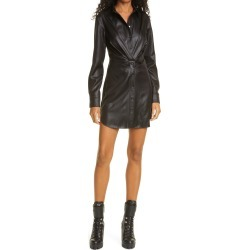 Women's Rta Vivienne Faux Leather Long Sleeve Minidress, Size 10 - Black found on Bargain Bro Philippines from Nordstrom for $545.00