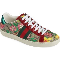 Women's Gucci New Ace Gg Supreme Floral Sneaker, Size 8US - Beige found on Bargain Bro India from Nordstrom for $680.00