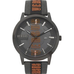 Men's Versus Versace Barbes Solar Canvas Strap Watch, 44mm found on Bargain Bro India from Nordstrom for $138.75