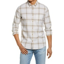 Men's Big & Tall Nordstrom Trim Fit Plaid Button-Down Shirt, Size XXX-Large - White found on Bargain Bro India from Nordstrom for $69.50