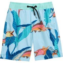 Boy's Billabong Sundays Layback Swim Trunks, Size S (4) - Blue