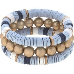 Women's Canvas Jewelry Emberly Set Of 3 Beaded Stretch Bracelets found on Bargain Bro Philippines from Nordstrom for $48.00