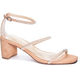 Women's 42 Gold Loretta Block Heel Sandal, Size 6 M - Beige found on Bargain Bro from Nordstrom for USD $98.76