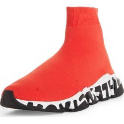 Men's Balenciaga Speed Lt Graffiti Knit Sneaker, Size 13US - Red found on MODAPINS from Nordstrom for USD $850.00