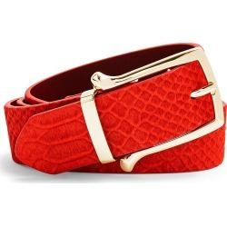 Women's Topshop Croc Sakar Belt, Size X-Small/Small - Red found on Bargain Bro Philippines from Nordstrom for $40.00