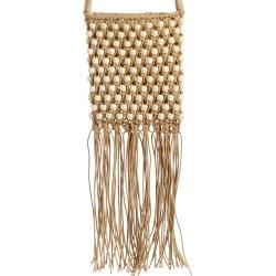 Mali + Lili Minka Beaded Macrame Crossbody Bag - Beige found on Bargain Bro India from LinkShare USA for $58.00