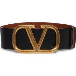 Women's Valentino Vlogo Leather Belt, Size 80 - Selleria/ Nero found on Bargain Bro Philippines from Nordstrom for $990.00