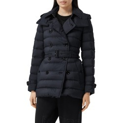 Women's Burberry Arniston Double Breasted Down Puffer Coat, Size X-Large - Blue found on Bargain Bro India from Nordstrom for $1120.00