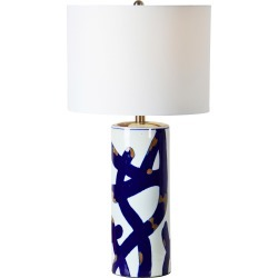 Renwil Cobalt Table Lamp, Size One Size - White