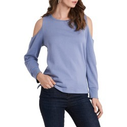 Women's Vince Camuto Cold Shoulder Top, Size Large - Blue found on MODAPINS from Nordstrom for USD $69.00