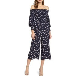 Women's 1.state Garden Sonne Off The Shoulder Jumpsuit, Size Small - Blue