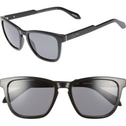 Men's Quay Australia Hardwire 54Mm Polarized Sunglasses - Black/ Smoke Lens